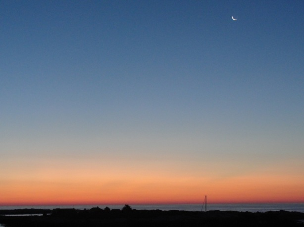 Crescent Moon at Dawn