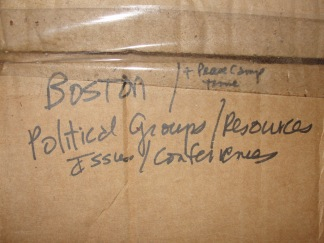 Boston Political work