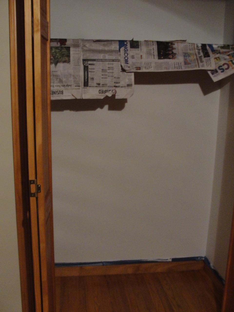 Painted closet