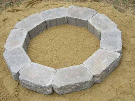 Fire Circle first layer on sand.jpg