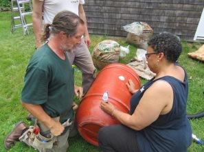 Rain Barrel Spigots Dave & Carla