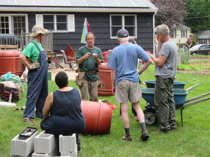 Rain barrel team-Dave, Chris, Carla, Harold, Mike, Sharon (hidden)