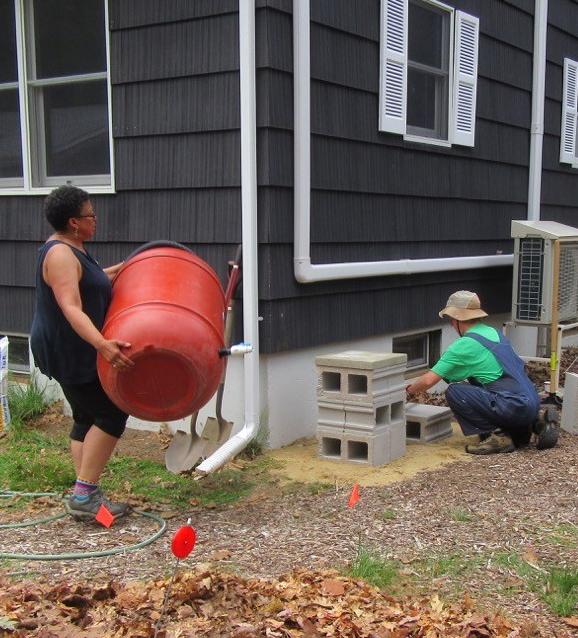 Rain barrels Carla & Chris
