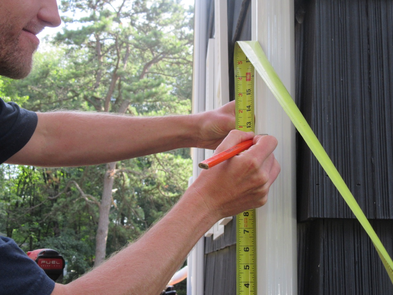 Measure the downspout
