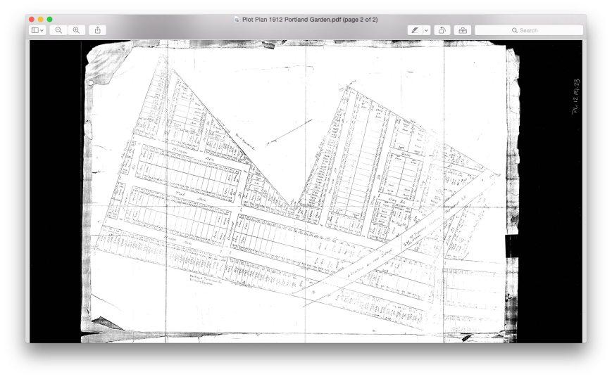 Plot plan Portland Gardens