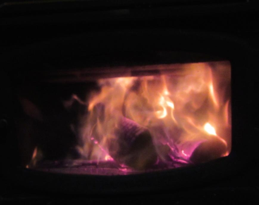 Woodstove Fire