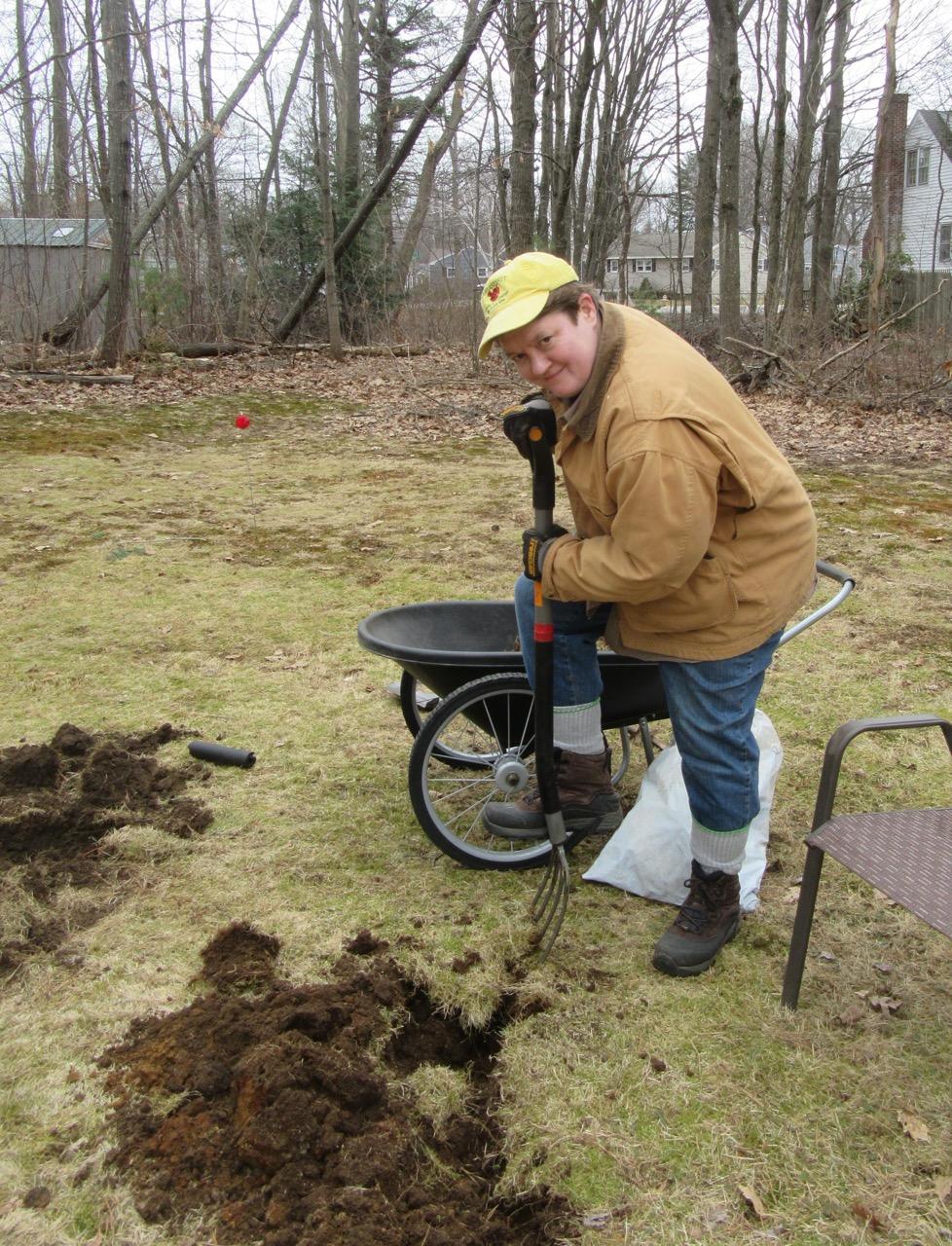 Margy digging