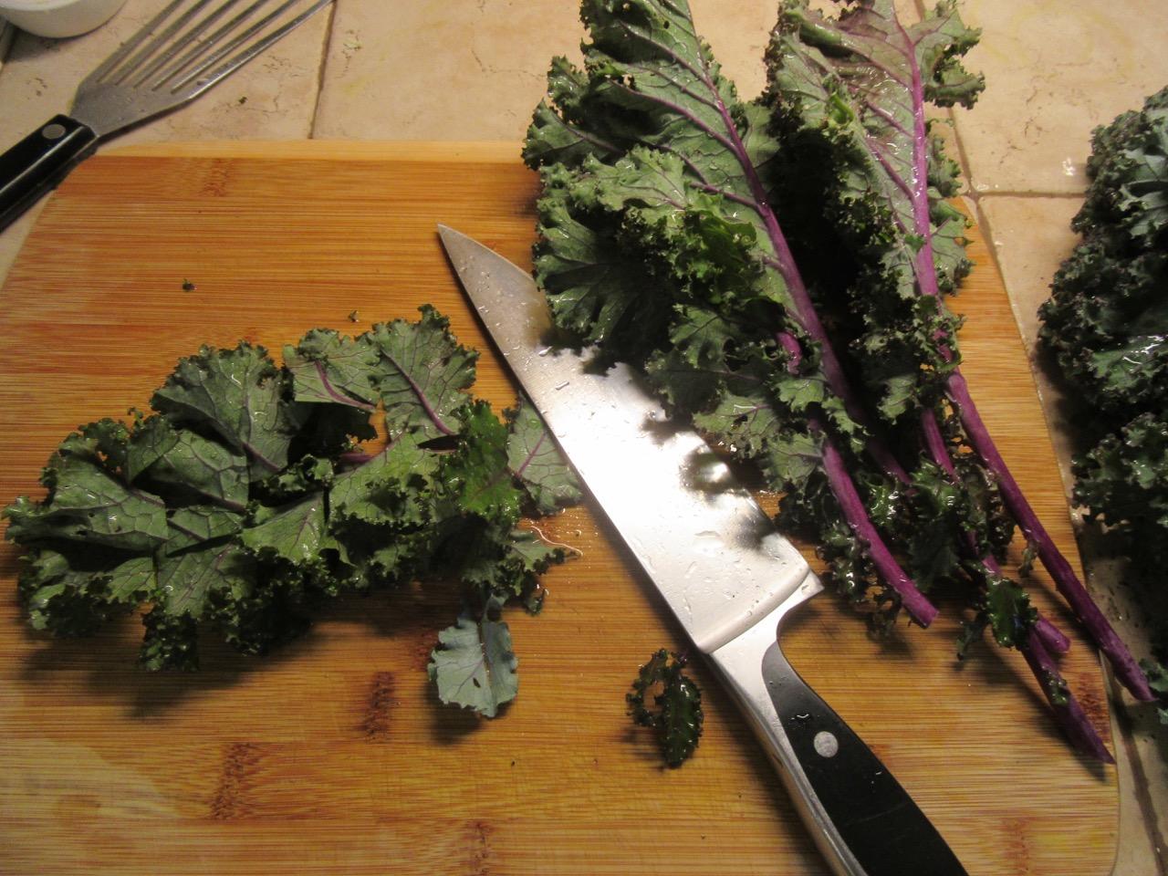 Kale chopping