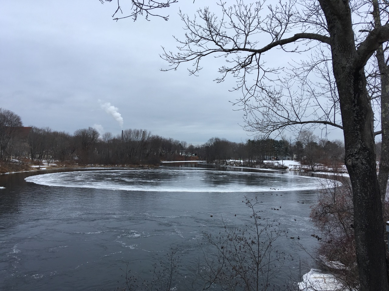 Ice disk in Westbrook