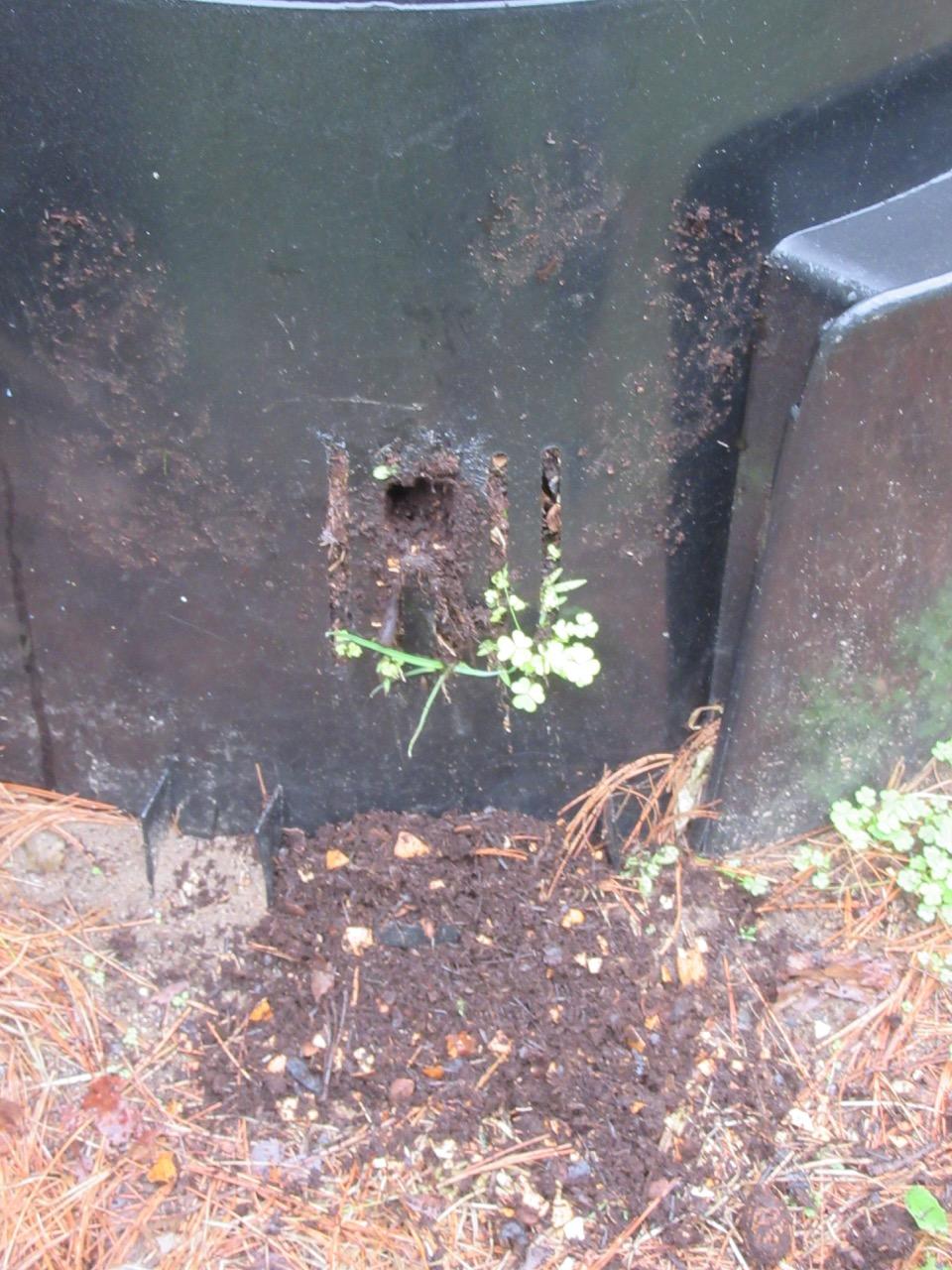 Compost barrel hole