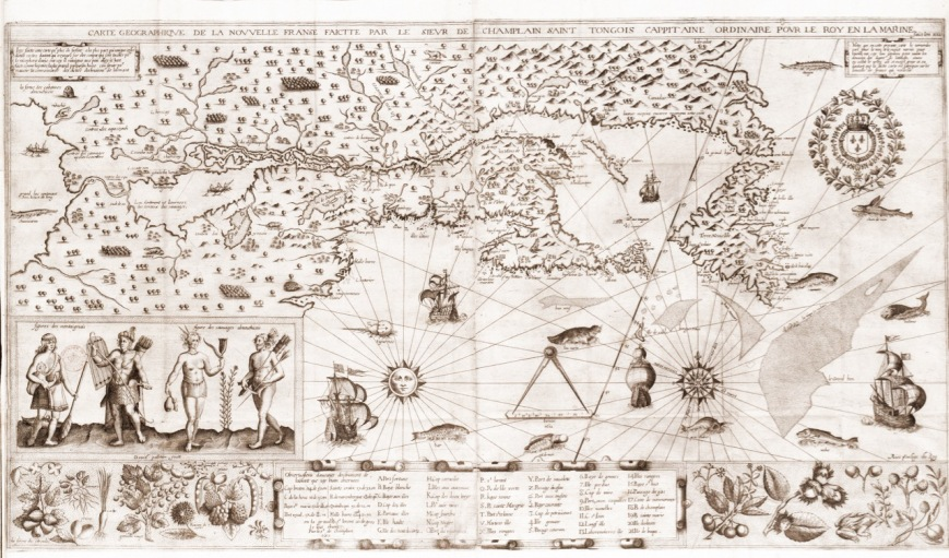 Samuel de Champlain map of Quebec