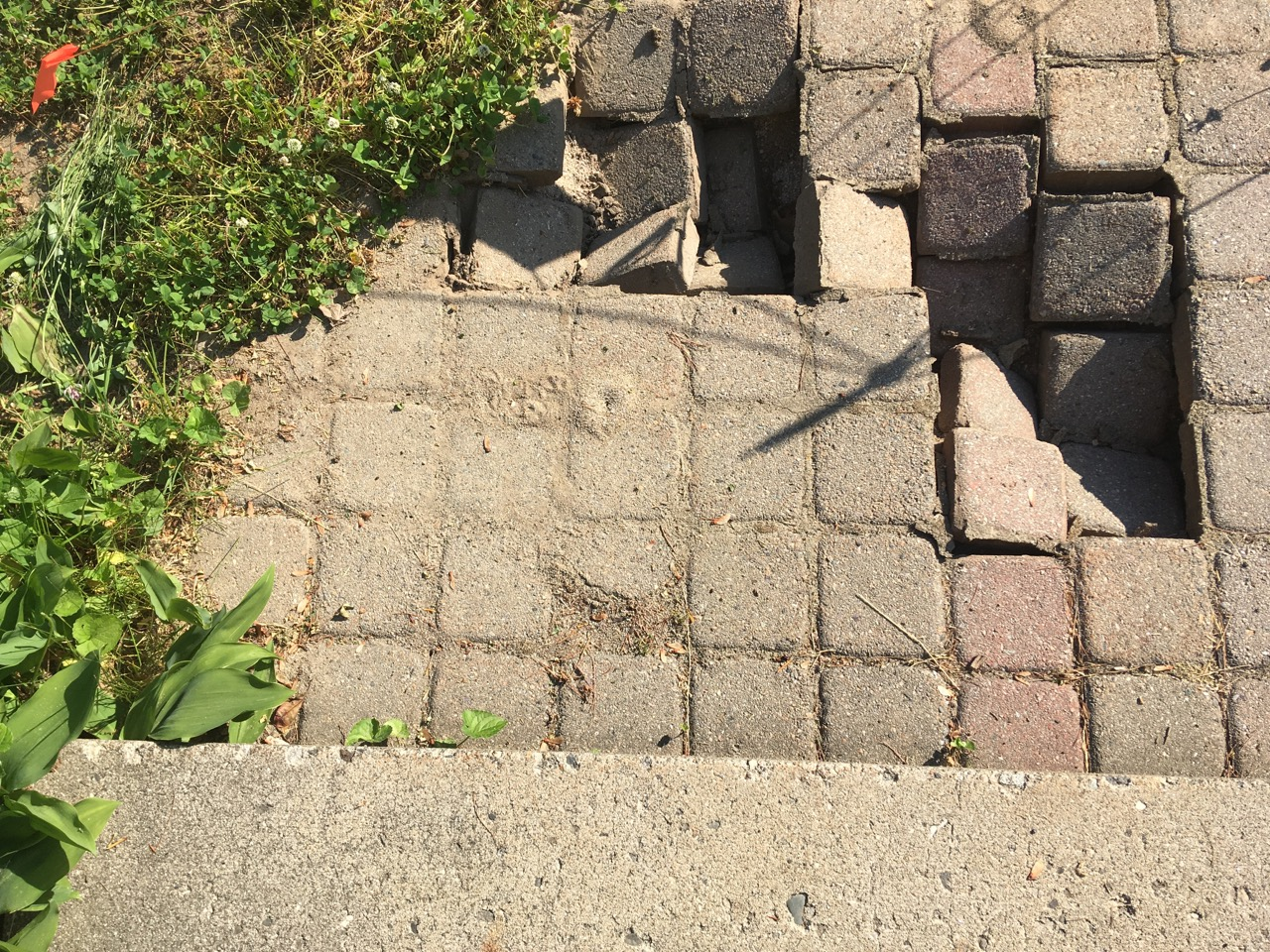 Broken walkway